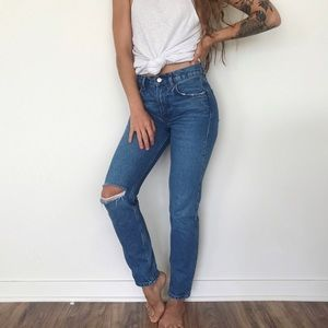 [Reformation] high-waisted Sonoma destroyed jeans